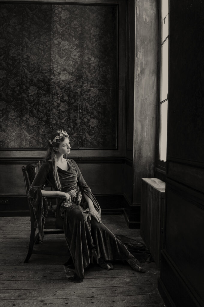 Artistic painterly portrait by portrait photographer on The Coted'Azure