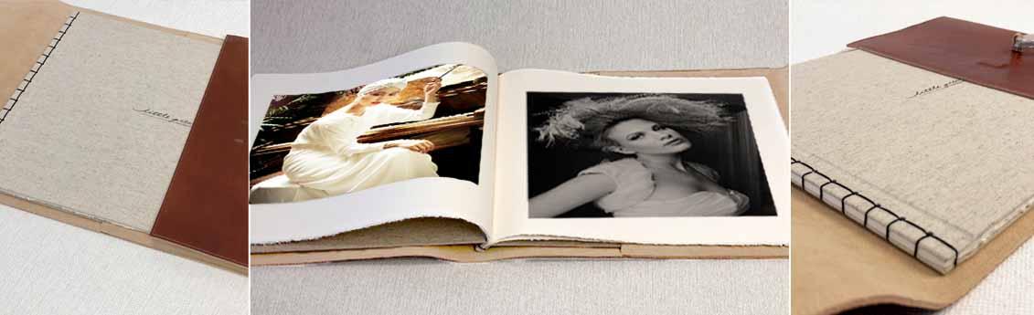 Portrait photographer on the Côte d'Azur. The Favola a hand made portrait album.