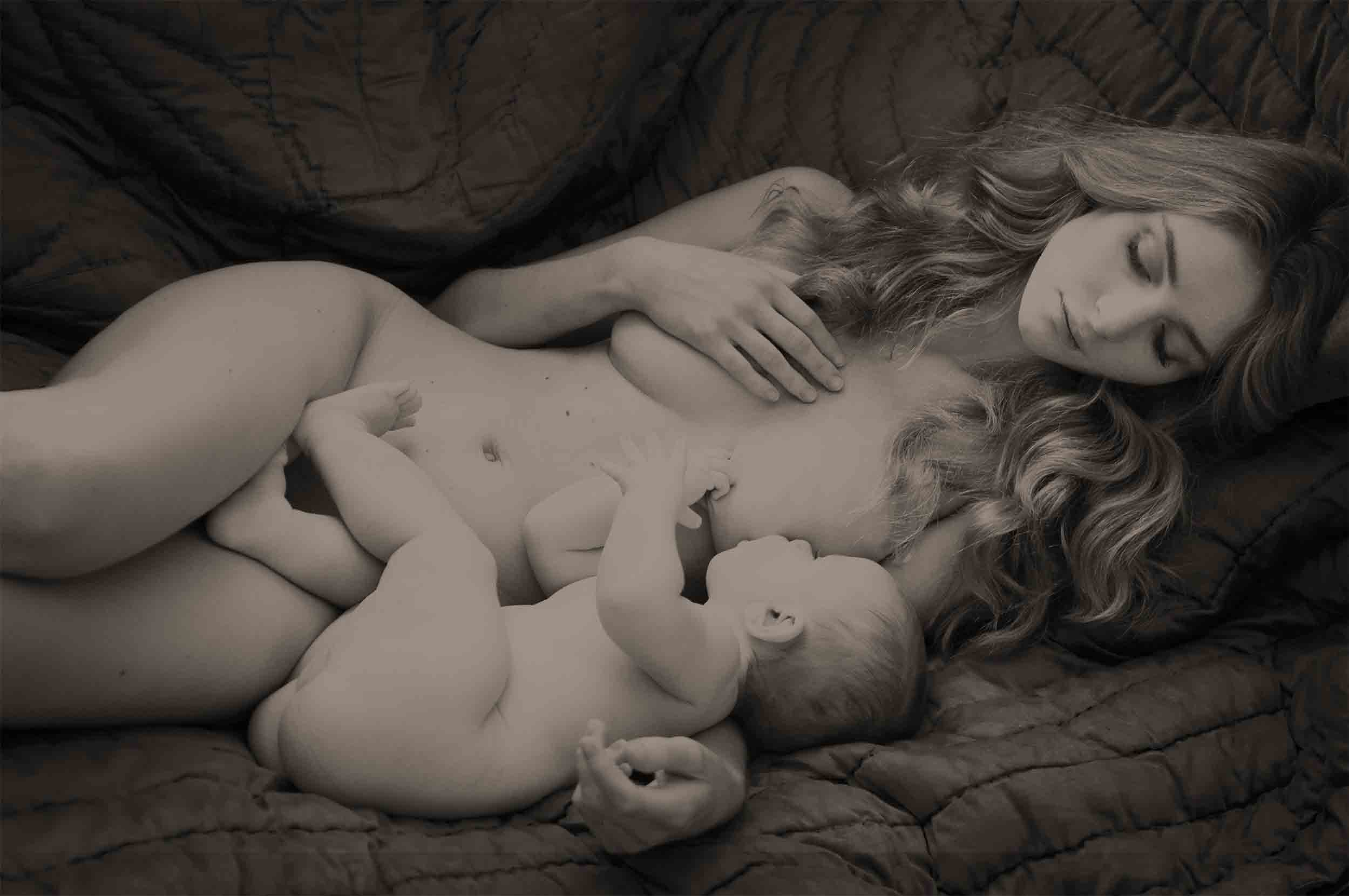 Mother and baby fine artistic nude portrait photographer