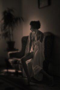 Romantic sensual nude portrait photography portrait photographer in Europe